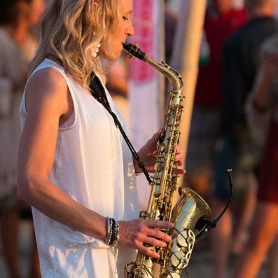 Saxofoniste Kirsten - strand
